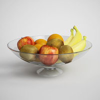 CGAxis 3D Model Fruit in Bowl